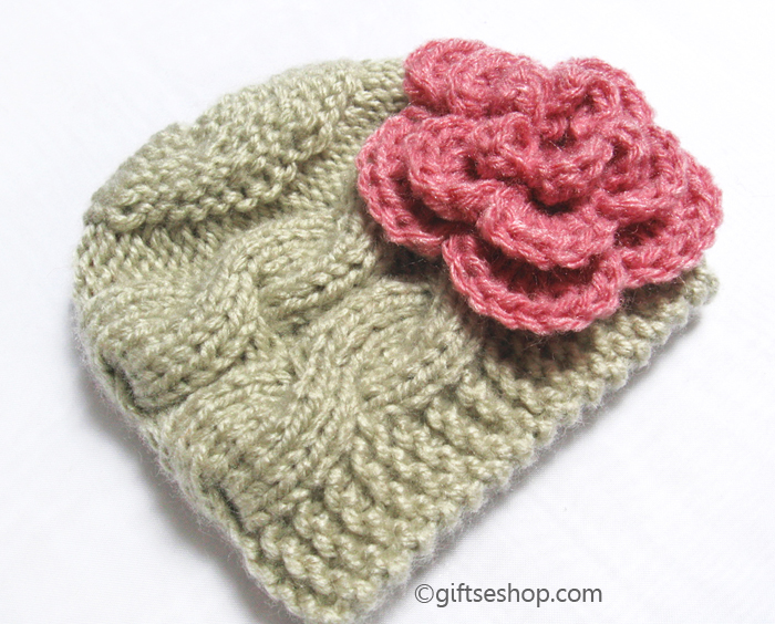 Baby Hat Knitting Pattern Newborn Cable Hat Photo Prop Pdf N52