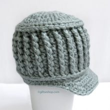 Crochet Baby Boy Hat - Baby Newsboy Hat