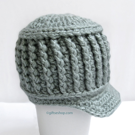 Crochet Baby Boy Hat - Baby Newsboy Hat