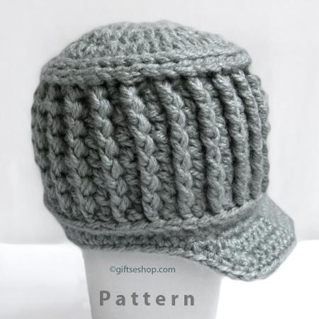 PDF Crochet Baby Newsboy Hat Pattern for Newborn to Six Months Photo Prop- Boy Newsboy Pattern