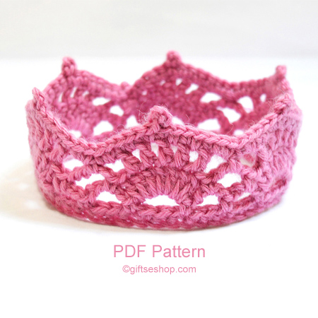 Crochet Baby Girl Clothes Patterns : Crochet Crown Pattern PDF N59 ? Gifts shop