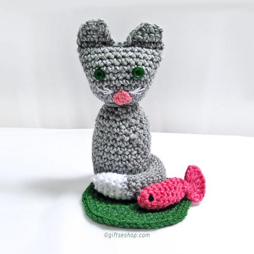 Crochet Cat Pattern Cat Amigurumi Kitten Toy N 64 Gifts Shop