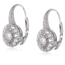 925 Sterling Silver Cubic-Zirconia Round Shaped Earrings