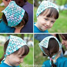 crochet kerchief pattern –bandana pattern