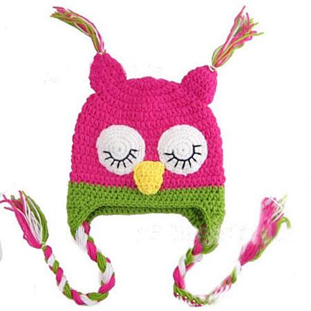 Baby Owl Crochet Beanie Hat Photo Prop