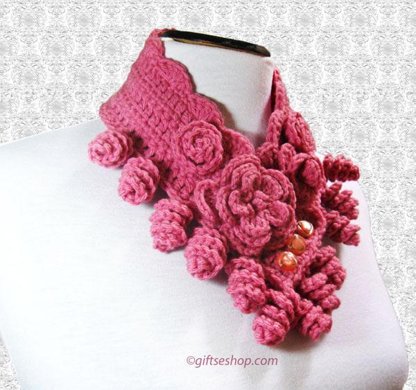 crochet cowl  -crochet neck warmer pattern