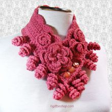crochet cowl -crochet neck warmer pattern