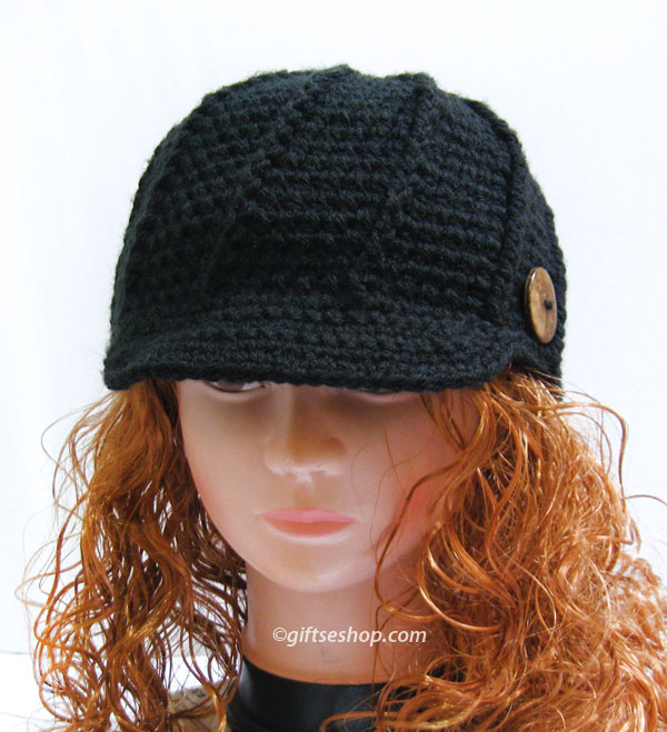 Crochet Newsboy Hat Pattern- Newsboy Cap Pattern Mens Womens