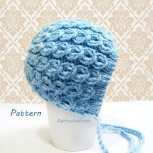 Baby Bonnet Pattern- Knitted Baby Bonnet- Knitting Baby Patterns Photo Props