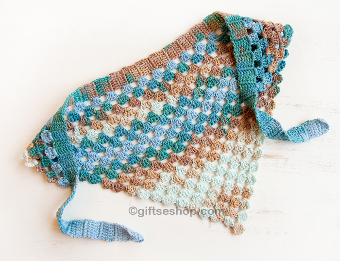 Crochet Hair Kerchief Pattern : Bandana Kerchief Crochet Pattern Free