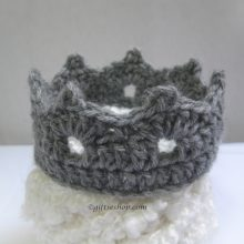 Crochet Crown Pattern- Crochet Baby Crown- Crochet Tiara Pattern