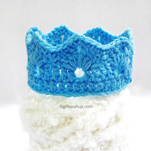Crochet Pattern Princess Or Prince Crochet Crown Newborn Pattern