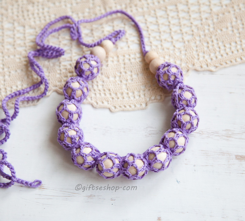 Crochet Nursing Teething Necklace DIY tutorial