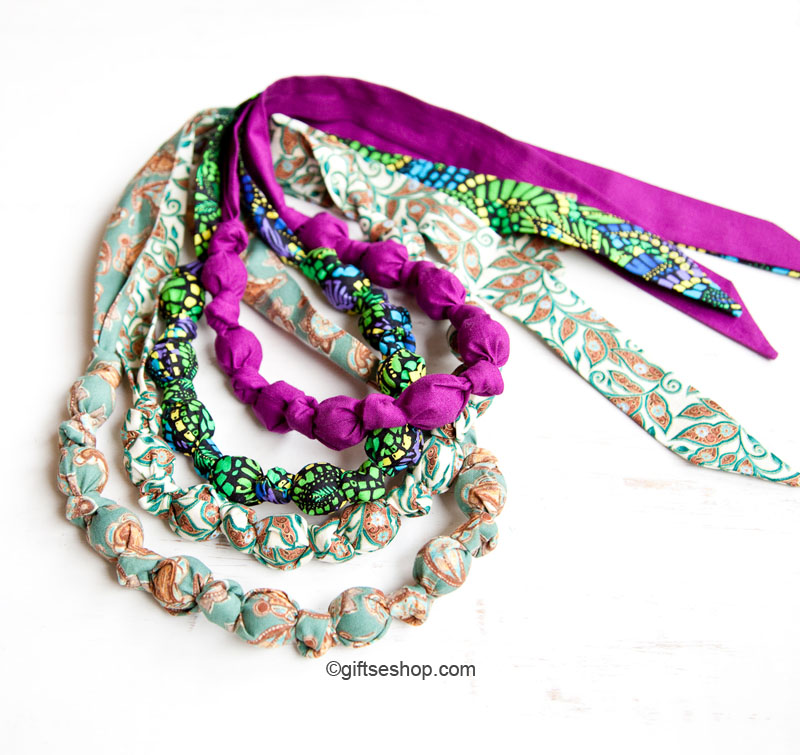 how to make knotted bead necklace