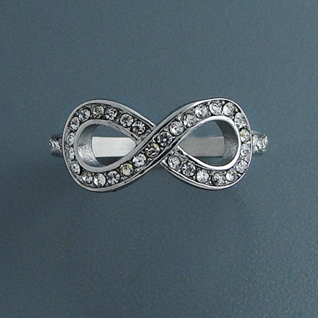 infinity ring, surgical steel, love ring