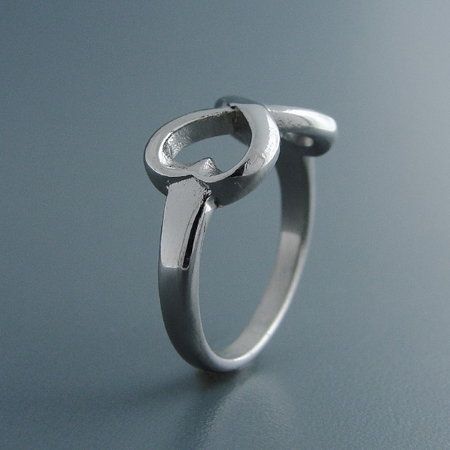 infinity ring, stainless steel, love ring