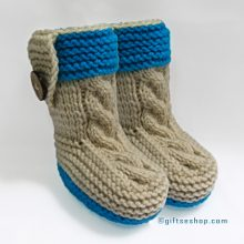 Knitting Pattern- Baby Booties Pattern- Baby Shoes Pattern- Knitted with Two Needles