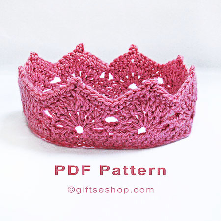 Crochet Crown Pattern Princess Crown Princess Tiara