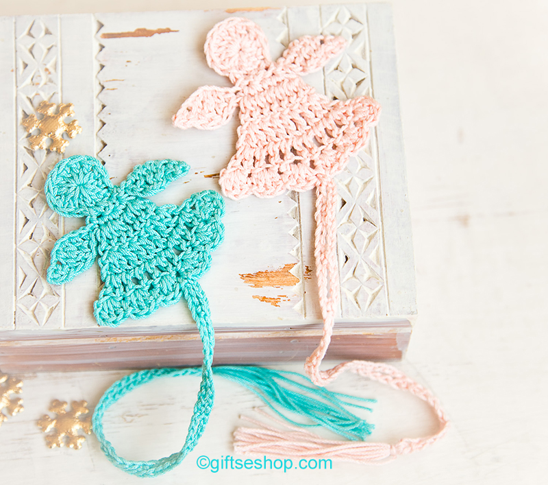 Christmas bookmarks crochet angel easy crochet patterns