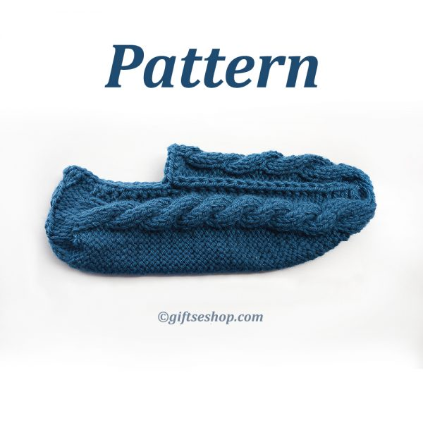 slipper knitting pattern