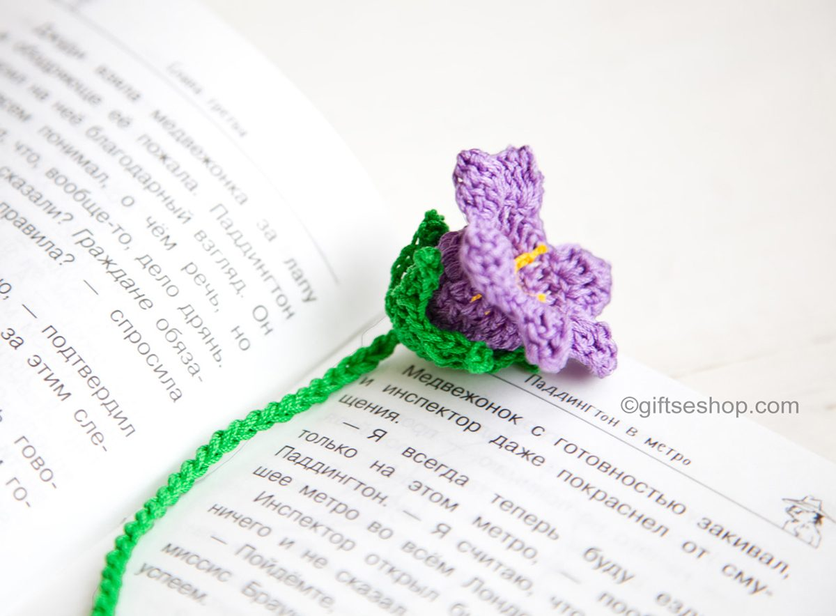 Free Crochet Bell Flower Pattern – Crochet Bookmark Pattern