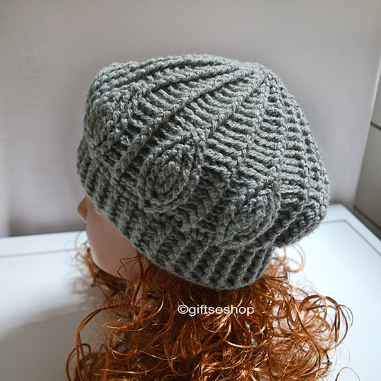 Crochet Slouchy Hat Pattern Easy : Slouchy Beanie- Crochet Beanie Pattern- Easy Crochet Hat ...