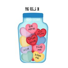jar full of hearts clip art for valentine's day