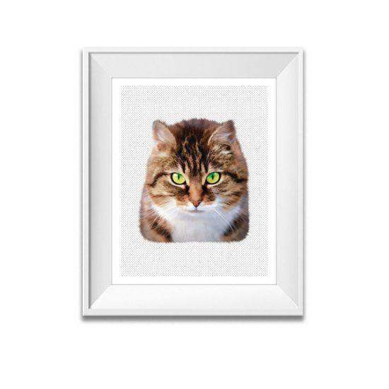animal print cat print