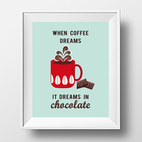 High Quality Cofee Print  Coffee Poster