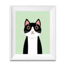nursery décor cat art- cat poster