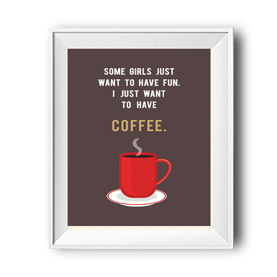 Coffee Quote Print  Coffee Poster  Kitchen Posters