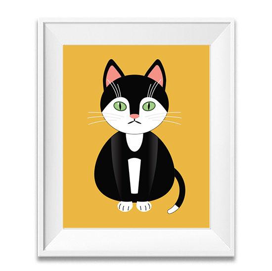 Cat Poster- Nursery Décor Cat Art- Kids Bedroom Ideas