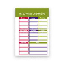 cleaning checklist for planner
