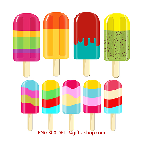 photograph regarding Printable Clip Art known as Popsicle Clipart- Summer time Lovable Clipart