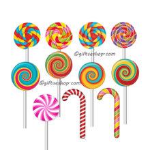 lollipop clipart, sweets clipart