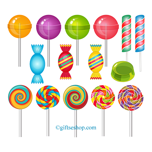Sweets Clipart, Lollipop Clipart – Gifts shop