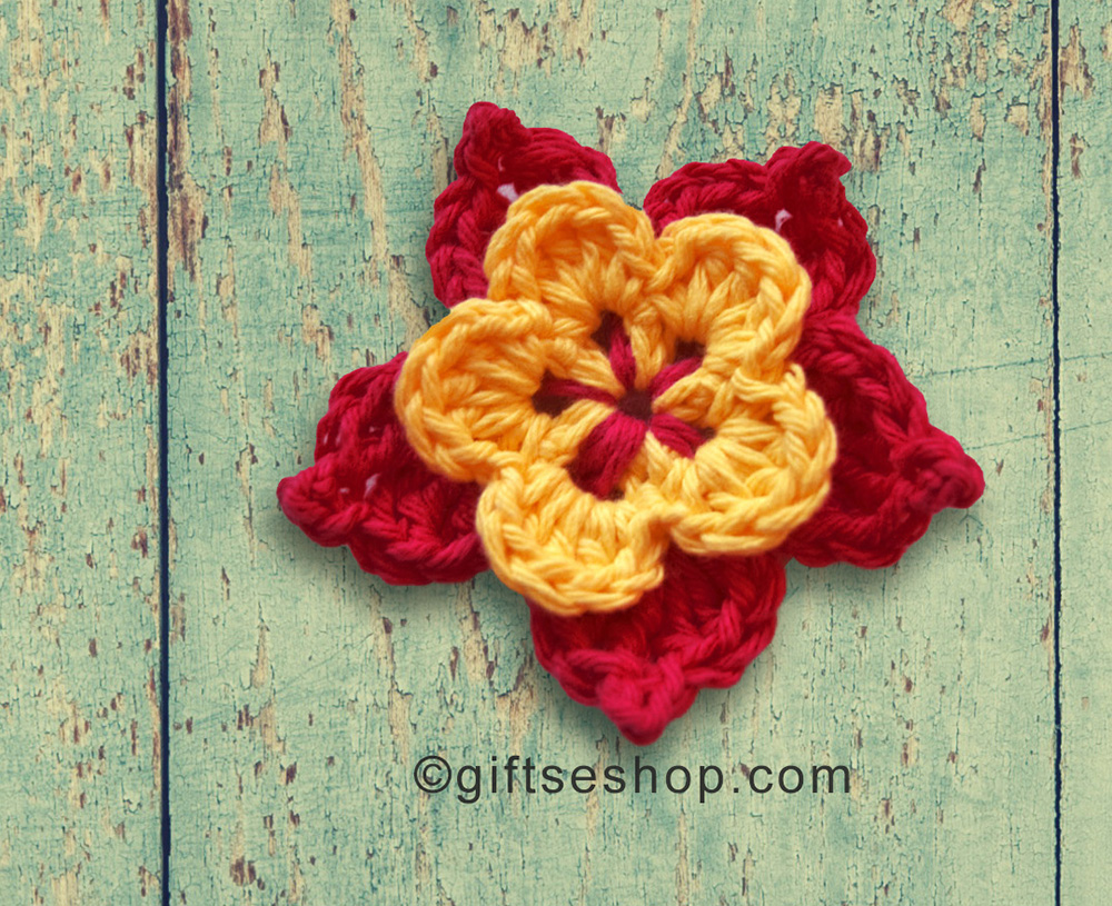 Crochet Flower for Hat Free Flower Pattern – Gifts shop