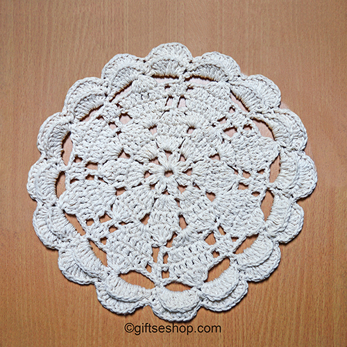 Crochet Doily Table Placemat Pattern Round Plate Mat No100 Gifts Shop