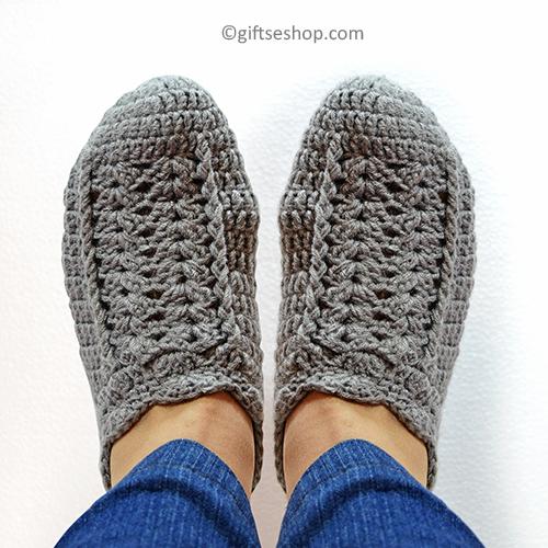Easy Crochet Slippers Pattern Crochet Womens Slippers 101 Gifts Shop